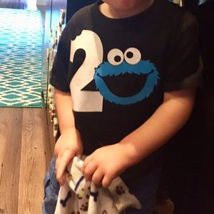 Shirts & Tops - Cookie monster birthday shirt